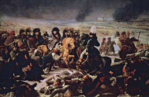 Napoleon leads his troops in 1807 during the Napoleonic Wars which sought to remake the political map of Europe--indeed, the world--in Napoleon's image.