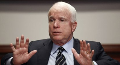 Senator John McCain (R-AZ) insisting that the U.S. does not do enough militarily around the world.