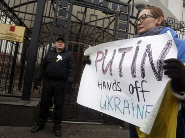 "Russia's ""covert"" invasion of Ukraine and the annexation of the Crimean Peninsula, 2014."