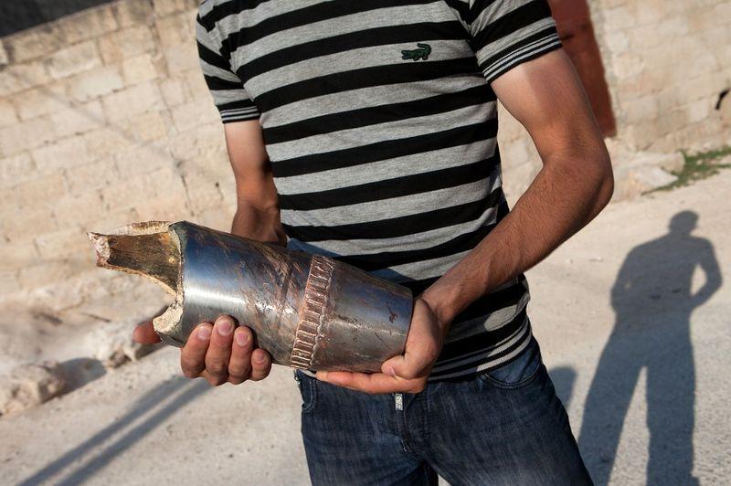 Syrian bomb fragment
