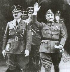 Hitler und Franco.