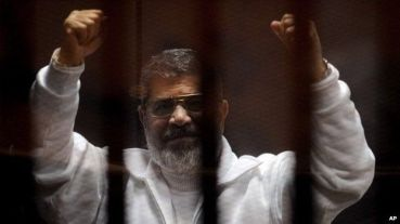 Mubarak's short-lived successor, Muslim Brotherhood member, Mohammed Morsi, after his deposal from office after attempting to outlaw opposition parties.