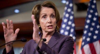 Representative Nancy Pelosi (D-CA) supporting the Department of Peace proposal.