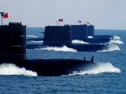 The newest Chinese subs--these are the most threatening element of China's Navy to America's Navy.