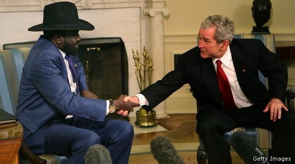 U.S. President George Bush Meets With Sudanese Vice President Salva Kiir