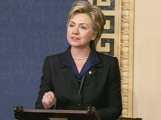 "Senator Clinton Casts Her ""Yay"" Vote For AUMF Iraq 2003"