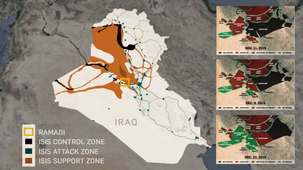 The Islamic State zones of control in Iraq. It is almost identical to where al Qaeda in Iraq controlled at the height of the Insurgency (2003-07). The Islamic State is a Wahhābīst terrorist group, meaning that they are operating in the Sunni regions of Iraq (and neighboring Syria). We are still fighting the Iraq War of 2003 today!