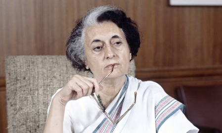 Prime Minister Indira Gandhi of India, a steely woman who fiercely resisted all efforts to diminish Indian state sovereignty.