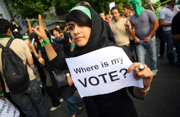 The 2009 Pro-Democratic Protests in Iran. Massive election fraud occurred pushing Ahmadinejad back into power, when he had clearly lost the election.