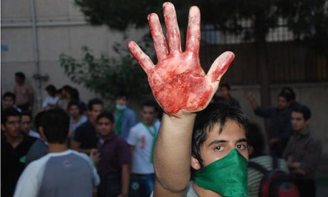 Iranian students massacred by IRGC during 2009 protests.