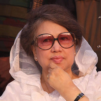 Wife of slain President Ziaur Rahman, former Prime Minister, Nationalist Party leader and Islamist ally.