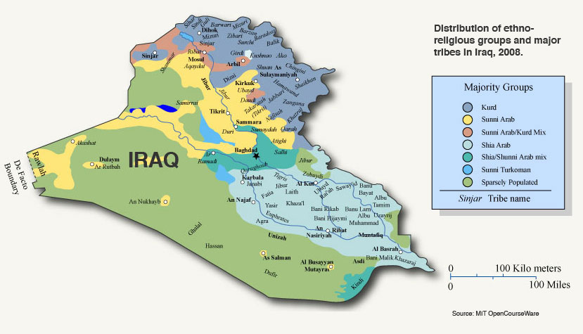 a map of the ethno religious groups and major tribes in iraq circa 2008 little has changed save for the fact that the islamic state now occupies most of