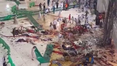 Blood bath in Mecca.