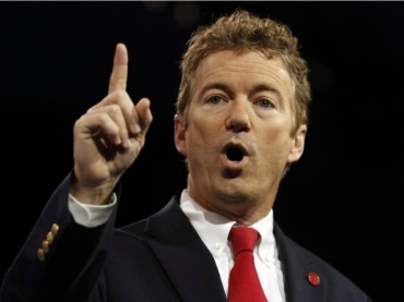 Senator Rand Paul (R-KY) calling for a withdrawal from most of America's global military commitments.