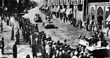 Anglo-Soviet forces invade Iran in 1941.
