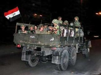 Last Syrian Convoy in Lebanon