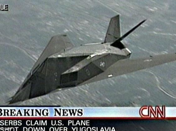 A U.S. F-117 Nighthawk stealth fighter was shot down by Serbia during the 1999 Kosovo Air War.