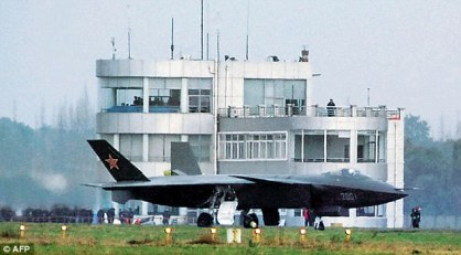 China's purported Fifth-Generation fighter, the J-20 in Chengdu.