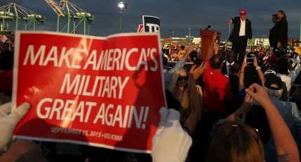 Donald Trump Leads Rally For US Military At USS Iowa