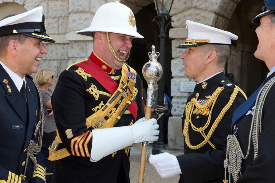 ROYAL MARINES DRUM MAJOR SET TO RETIRE AFTER ALMOST SERVING FOR ALMOST 10% OF THE ROYAL MARINES EXISTENCE