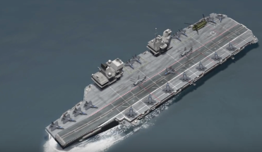 HMS Queen Elizabeth model from above, courtesy of TOMO News.