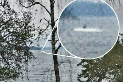 A purported Russian submarine in Swedish waters.
