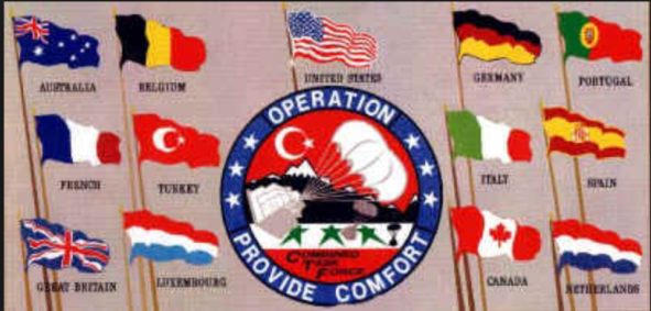 Operation Provide Comfort in 1994 created northern Iraqi Kurdistan.